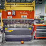 "Amada RG-5020LD Press Brake - Hydraulic Up-Acting Ram - 82"" Bending Length - 55 Ton Capacity - Programmable 2-Axis Back Guage"