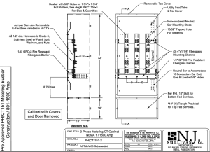 PEPCO 801 -1500 Amp NEMA 1 CT Cabinet