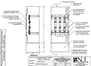 PEPCO NEMA 1 1600 - 2000 Amp CT Cabinet