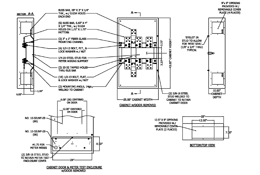 PHICT81 3 pepco 400 to 800 amp nema 1 ct cabinet phict81 n j sullivan ct cabinet wiring diagram at sewacar.co
