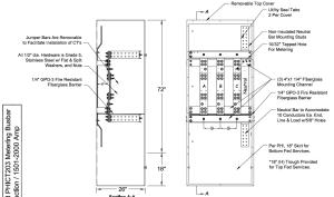 PEPCO 1600 - 2000 Amp NEMA 3R CT Cabinet