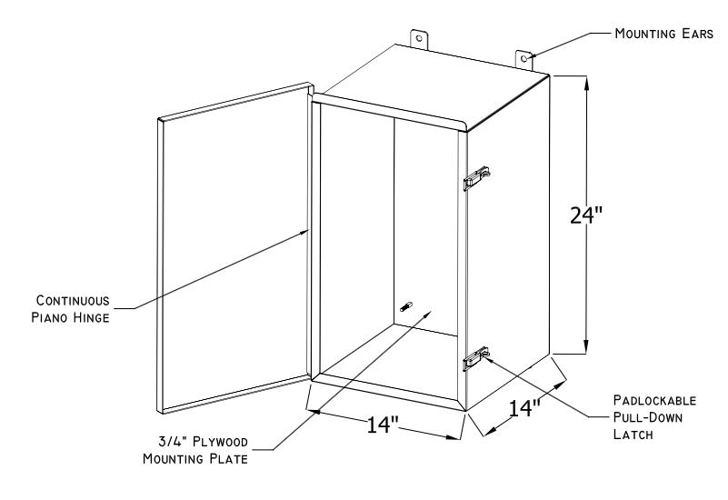 Pepco Remote Meter Cabinet Nema 3r Hinged Padlock N J