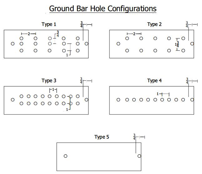 Grounding Bar Hole Configuration N J Sullivan